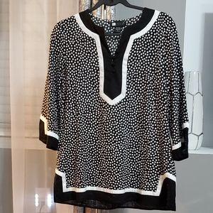 Carole Little black and white polka dots size L